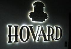 Псевдообъемные буквы с контражурной подсветкой